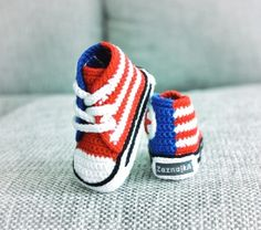 Crochet baby sneakers via Etsy