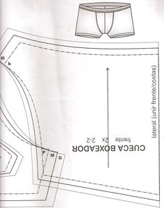 Sewing Pattern / men's boxers