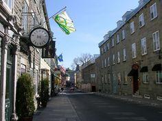 Rue Vieux-Quebec and Rue Saint-Louis Amazing Places, Great Places, Ste Anne, Chateau Frontenac, Le Petit Champlain, Saint Louis, Quebec City, Rue, Big Ben