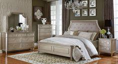 silver bedroom furniture | Windsor Panel Bedroom Set (Silver) - Bedroom Sets - Bedroom Furniture ...