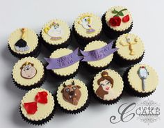 Beauty and the Beast Cupcakes - Cake by cindyscakecreations