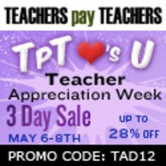 Big Sale TeachersPayTeachers.com is a great website to get reasonably priced materials made by teachers.  Many of the items are digital downloads so you'll can download and use in your classroom immediately.