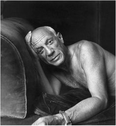 portraits dartistes: Pablo Picasso, photographié par Jacques Henri Lartigue, 1965