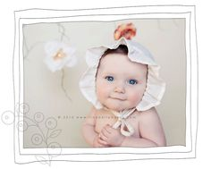 baby bonnets... oh my goodness. :)