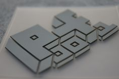 3D printed logo made from silicone. Looks good!