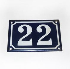 French Enamel Street Number from Paris  by FrenchVintageShop