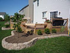deck & border landscaping