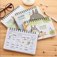 best price cartoon totoro weekly plan spiral notebook agenda for week schedule organizer planner #planner #notebook