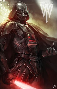 Darth Vader Star Wars 11 x 17 Digital Print by Wizyakuza on Etsy