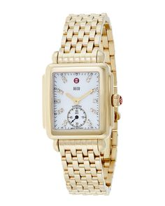 Spotted this Michele Women's Deco Diamond Watch on Rue La La. Shop (quickly!).