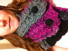 I'm so excited about this hat and Scarflet set I made!