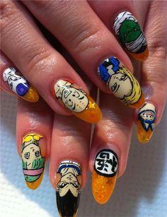 Nail Art basado en el anime 'Dragon Ball'