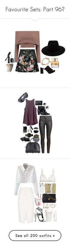 """""""Favourite Sets: Part 96❣"""" by moon-and-starss ❤ liked on Polyvore featuring Boohoo, Gucci, Mansur Gavriel, GALA Curios, rag & bone, Givenchy, Essie, Bobbi Brown Cosmetics, RVCA and H&M"""