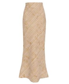 long tailored wool skirt: make in cream
