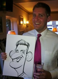 Chiswick wedding caricatures