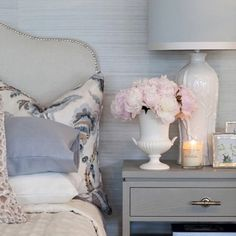 """393 Likes, 11 Comments - Linda D (@thesummerhousestyle) on Instagram: """"Adore this bedroom from @verandahhouse. Beautiful cushions and soft colour palette. Such talented…"""""""