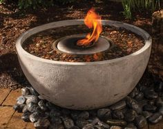 Aquascape 78201 Fire Fountain Water Feature for Patios, Decks, and Gardens, Small Backyard Landscaping, Landscaping With Rocks, Landscaping Ideas, Pergola Ideas, Backyard Ideas, Landscaping Borders, Stone Landscaping, Pool Backyard, Hillside Landscaping