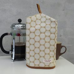 Coffee cozy for frenchpress. by LoneHDesign on Etsy