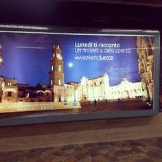 .@serenacannavo | #pubblicità #metroroma #lecce #weekendLecce <3 | Webstagram
