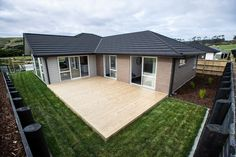 Visit our new Show Home at Parkview, Helensville and be inspired. Home Board, Outdoor Living, Outdoor Decor, Auckland, New Homes, Deck, House, Home Decor, Courtyards