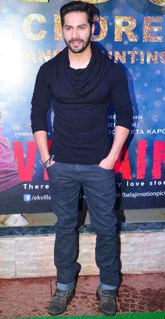 In pictures: Star-studded success bash of 'Ek Villain' Hottest Male Celebrities, Indian Celebrities, Bollywood Celebrities, Celebs, Varun Dhawan Body, Alia Bhatt Varun Dhawan, Bollywood Outfits, Bollywood Fashion, Varun Dhawan Instagram
