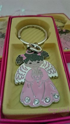 24 Angel Keychains Llaveros Favors Baptism Communion Christening Bautizo in Home & Garden, Greeting Cards & Party Supply, Party Supplies   eBay