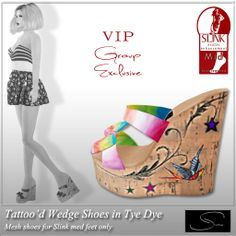 Stellar Tattoo'd Wedge Shoes VIP GIFT | Flickr - Photo Sharing!