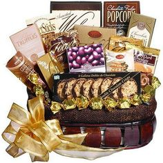Chocolate Treasures Gourmet Food Gift Basket $66.65 #topseller