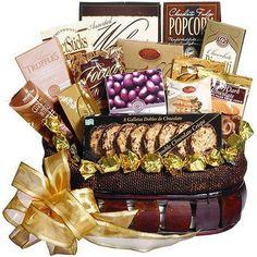 Chocolate Treasures Gourmet Food Gift Basket $66.65 #topseller