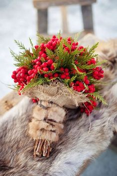 42 Stunning Winter Wedding Bouquets ♥ Cozy sweaters and half-length coats look chic with any wedding gown and create opportunity for stunning winter wedding bouquets. #wedding #bride #weddingforward #weddingbouquets Small Wedding Bouquets, Winter Wedding Flowers, Red Wedding, Floral Wedding, Wedding Bride, Winter Weddings, Wedding Shoot, Rustic Wedding, Small Winter Wedding