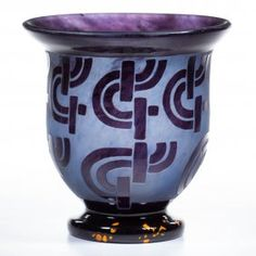 Schneider Attributed Art-deco Cameo Vase