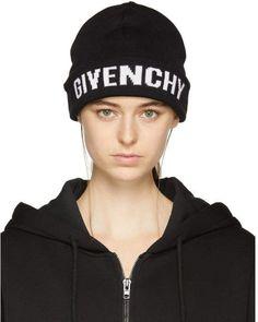 Givenchy Black Logo Beanie