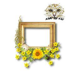 Scrapbooking TammyTags -- TT - Designer - Miriam's Scrap,  TT - Item - Frame, TT - Style - Cluster, TT - Thing - Flower, TT - Primary Color - Yellow or Gold