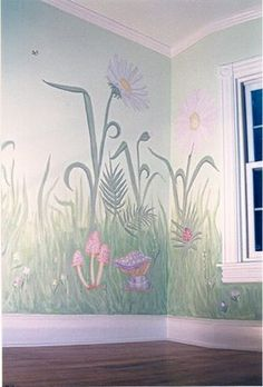 Flower Garden Nursery Wall Murals : Nursery Murals and More