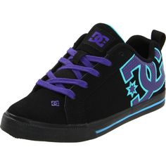 DC Women's Court Graffik Vulc Skate Shoe ($55) ❤ liked on Polyvore