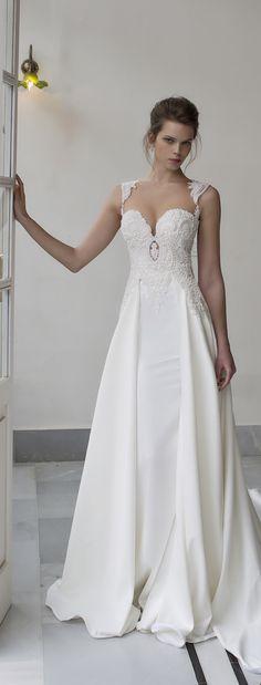Gorgeous textured sweetheart wedding dress | Riki Dalal 2016 Verona Wedding Dress Collection via @BelleMagazine