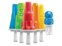 Zoku Space Slow Pop Freezer Mould - Ignite the imaginations of children and adults alike, with these space themed ice pops. An astronomical amount of fun, the shapes include five different rocket designs and a Zoku astronaut. With easy removal from the mould and drip guards on the sticks, they are mess and fuss free too.