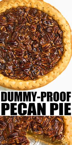 PECAN PIE RECIPE- Best quick easy classic old fashioned dessert Crispy crust with ooey gooey pecan filling This homemade Southern old fashioned pie requires simple ingredients and is the best Thanksgiving dessert Can also add chocolate and bourbon From Dessert Simple, Simple Pie, Köstliche Desserts, Dessert Recipes, Desserts With Pecans, Recipes With Pecans, Quick Chocolate Desserts, Quick Easy Desserts, Cheesecake Recipes