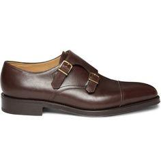 e7cf75e55ae7 John Lobb William Leather Monk-Strap Shoes