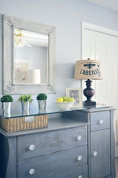 Reuse that old changing table for an awesome eye catching entryway table!