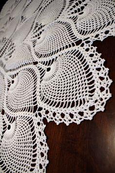 Lovely Crochet Pineapple Tablecloth by DoilyMania on Etsy