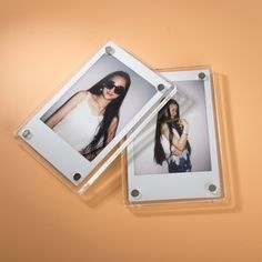A set of acrylic frame magnets so you can cover their fridge in Polaroids of your face, because don't let them think for a second that moving means they can forget you. | 25 Housewarming Gifts That People Will Actually Want