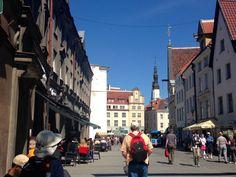 the Kullaseppa Street ('Goldsmith Street')- openning view to the Town Square. Tallinn, Estonia