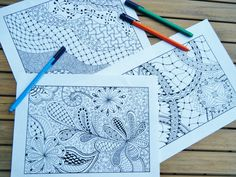 Zentangle Coloring Pages -  Inspired - Zendoodle - Book 1. $15.00, via Etsy.