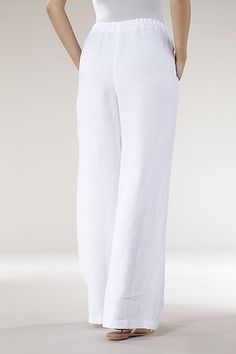 Order our Trousers Berthe from our OSKA Spring/Summer 2013 collection today Linen Pants Outfit, Linen Trousers, Summer Fashion Outfits, Fashion Pants, Pantalon Large, Type Of Pants, Pants For Women, Clothes For Women, Linen Dresses