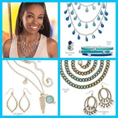 Blues in a variety of hues! Beautiful jewelry from Premier Designs. Layers and statement pieces. http://colorful.mypremierdesigns.com access code: shine