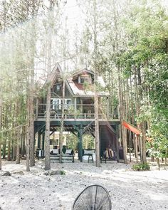 Beautiful Space, Most Beautiful, Treehouse Cabins, Sleeping Under The Stars, Tiny House, Tree Houses, Photo And Video, Orange Juice, Lifestyle