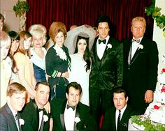 The #Presley wedding in Las Vegas with their small but special wedding party