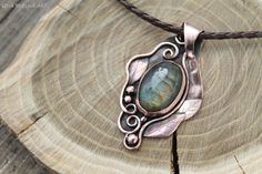 Labradorite Copper pendant Metalwork necklace Metalsmith jewelry Handmade jewelry Boho pendant Boho jewelry Gift for her Metal Clay Jewelry, Copper Jewelry, Stone Jewelry, Boho Jewelry, Pendant Jewelry, Jewelry Gifts, Handmade Jewelry, Jewelry Design, Copper Necklace