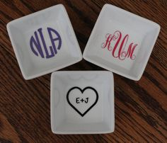 Personalized Ring Dish by KristenMarieCreation on Etsy